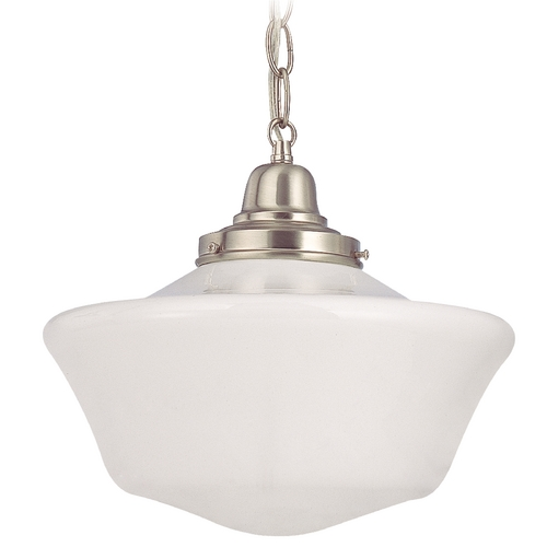 Design Classics Lighting 12-Inch Schoolhouse Pendant Light with Chain FB4-09 / GA12 / B-09