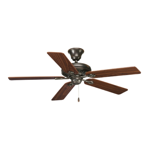 Progress Lighting Progress Ceiling Fan Without Light in Antique Bronze Finish P2521-20