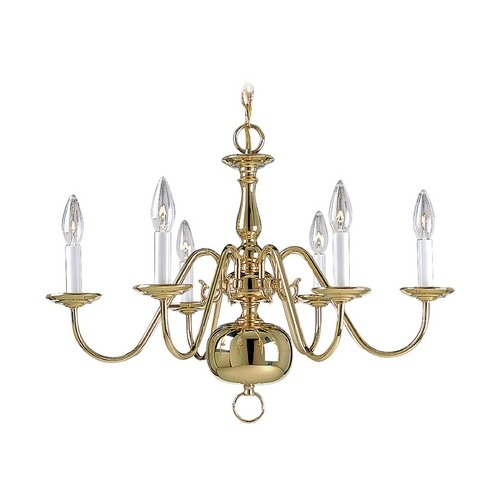 Progress Lighting Progress Chandelier in Polished Brass Finish P4356-10