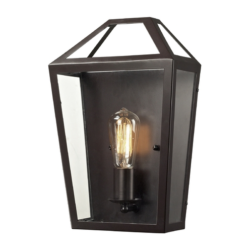 Elk Lighting Sconce Wall Light with Clear Glass in Oil Rubbed Bronze Finish 31505/1