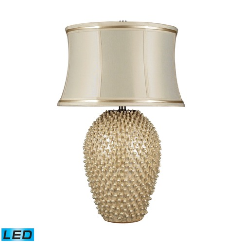 Dimond Lighting Dimond Lighting Pearlescent Cream LED Table Lamp with Drum Shade D2112-LED