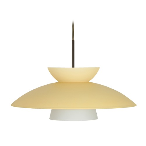 Besa Lighting Besa Lighting Trilo Bronze LED Pendant Light 1JT-451397-LED-BR