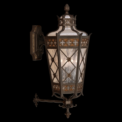 Fine Art Lamps Fine Art Lamps Chateau Outdoor Umber Patina with Gold Accents Outdoor Wall Light 403481ST