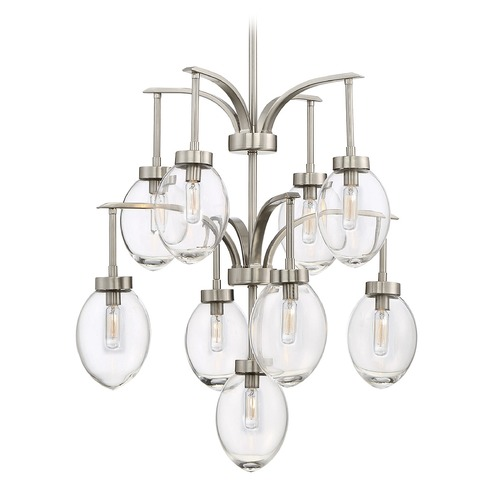 Savoy House Savoy House Lighting Ravenia Satin Nickel Chandelier 1-541-9-SN