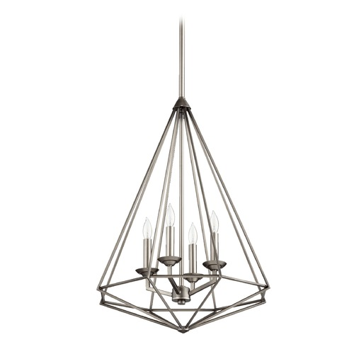 Quorum Lighting Quorum Lighting Bennett Antique Silver Pendant Light 8311-4-92