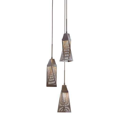 Elan Lighting Elan Lighting Vitalina Architectural Bronze LED Multi-Light Pendant with Bell Shade 83533
