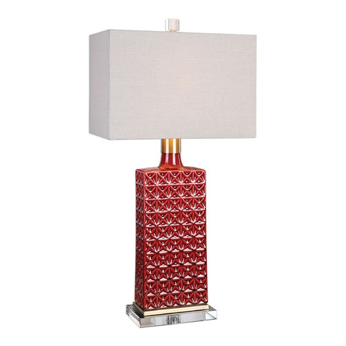 Uttermost Lighting Uttermost Alimos Glazed Red Ceramic Lamp 27275-1