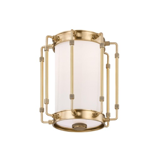 Hudson Valley Lighting Hudson Valley Lighting Hyde Park Aged Brass LED Flushmount Light 9709-AGB
