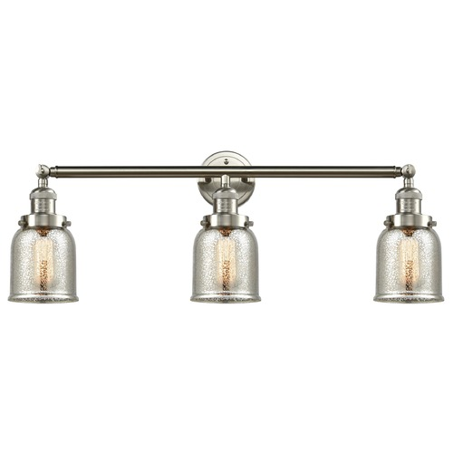 Innovations Lighting Innovations Lighting Small Bell Brushed Satin Nickel Bathroom Light 205-SN-S-G58