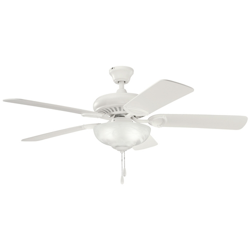 Kichler Lighting Kichler Ceiling Fan with Light Kit in Satin Natural White Finish 339211SNW