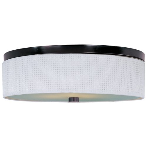 ET2 Lighting Modern Flushmount Light with White Shades in Oil Rubbed Bronze Finish E95004-100OI