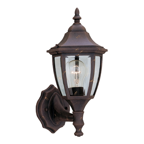 Designers Fountain Lighting Outdoor Wall Light with Clear Glass in Autumn Gold Finish 2462-AG