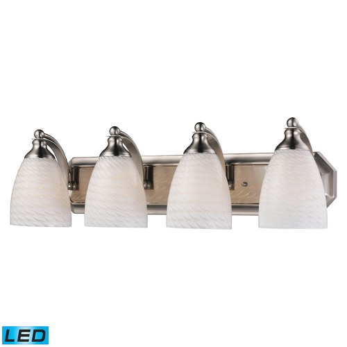 Elk Lighting Elk Lighting Bath and Spa Satin Nickel LED Bathroom Light 570-4N-WS-LED