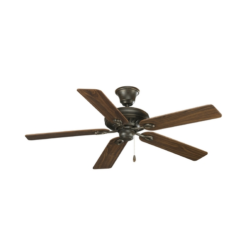 Progress Lighting Progress Ceiling Fan Without Light in Forged Bronze Finish P2521-77