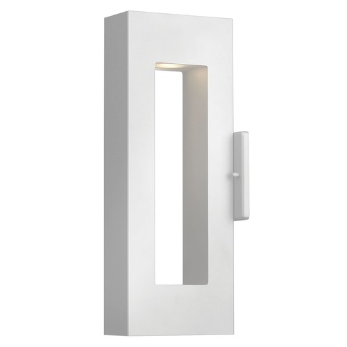 Hinkley Lighting Modern LED Outdoor Wall Light with Etched Lens in Satin White Finish 1640SW-LED