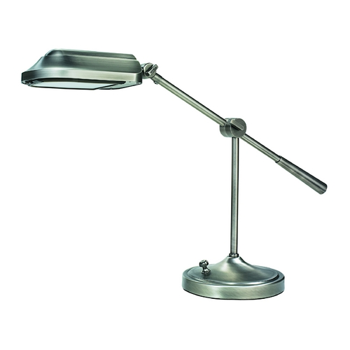 Verilux Lighting Swing-Arm Task Desk Lamp in Brushed Nickel Finish VD03GG1
