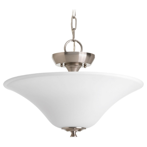 Progress Lighting Progress Lighting Cantata Brushed Nickel Semi-Flushmount Light P3440-09
