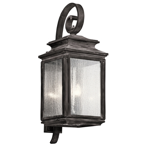 Kichler Lighting Kichler Lighting Wiscombe Park Weathered Zinc Outdoor Wall Light 49504WZC