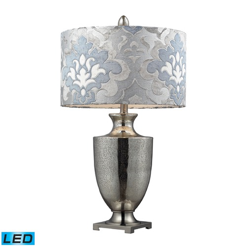 Dimond Lighting Dimond Lighting Antique Mercury Glass, Polished Chrome LED Table Lamp with Drum Shade D2248P-LED