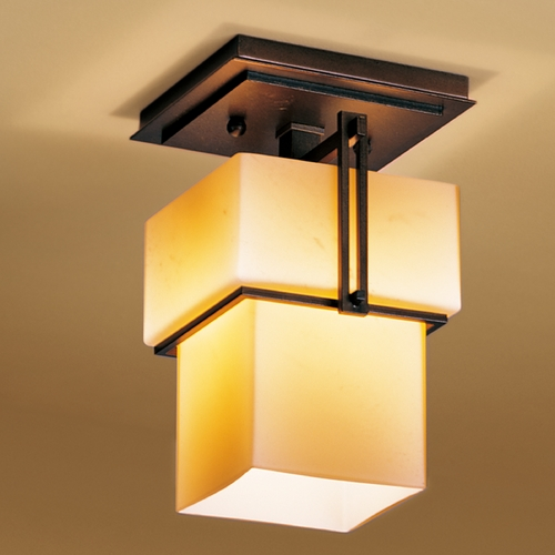Hubbardton Forge Lighting Hubbardton Forge Lighting Kakomi Bronze Semi-Flushmount Light 123755-05-H102