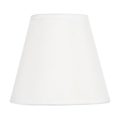 Livex Lighting White Empire Lamp Shade with Clip-On Lamp Shade Assembly S300