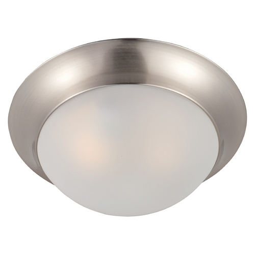Maxim Lighting Maxim Lighting Essentials Satin Nickel Flushmount Light 5850FTSN