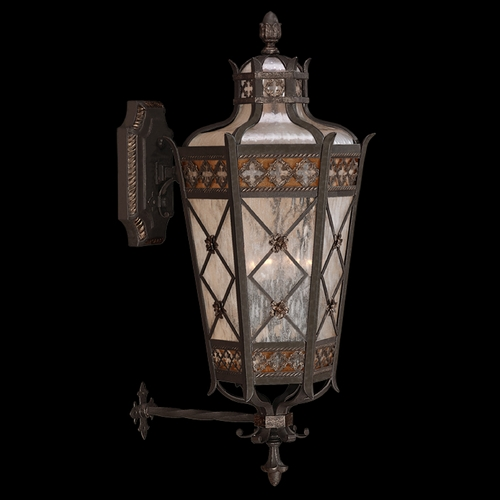 Fine Art Lamps Fine Art Lamps Chateau Outdoor Umber Patina with Gold Accents Outdoor Wall Light 403681ST