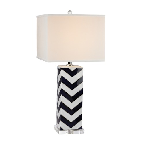 Dimond Lighting Dimond Lighting Navy, White Table Lamp with Square Shade D2633