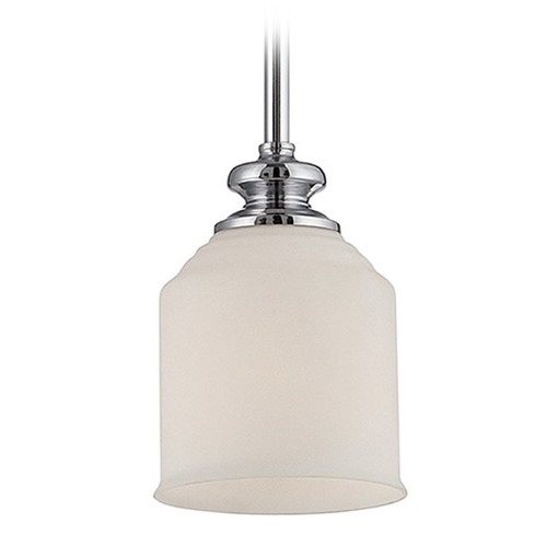 Savoy House Savoy House Polished Chrome Mini-Pendant Light with Bowl / Dome Shade 7-6834-1-11