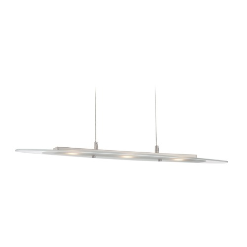 Lite Source Lighting Lite Source Lighting Radko Polished Steel LED Pendant Light with Oval Shade LS-19995