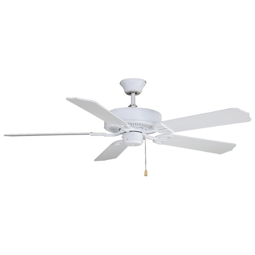 Fanimation Fans Fanimation Fans Aire Decor Matte White Ceiling Fan Without Light BP200MW1