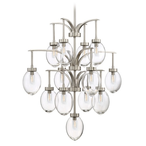 Savoy House Savoy House Lighting Ravenia Satin Nickel Chandelier 1-542-13-SN