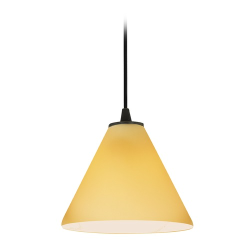 Access Lighting Access Lighting Martini Oil Rubbed Bronze LED Mini-Pendant Light with Conical Shade 28004-3C-ORB/AMB