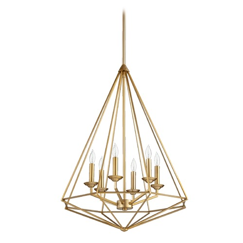 Quorum Lighting Quorum Lighting Bennett Aged Brass Pendant Light 8311-6-80