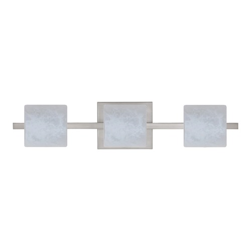 Besa Lighting Besa Lighting Paolo Satin Nickel LED Bathroom Light 3WS-787319-LED-SN