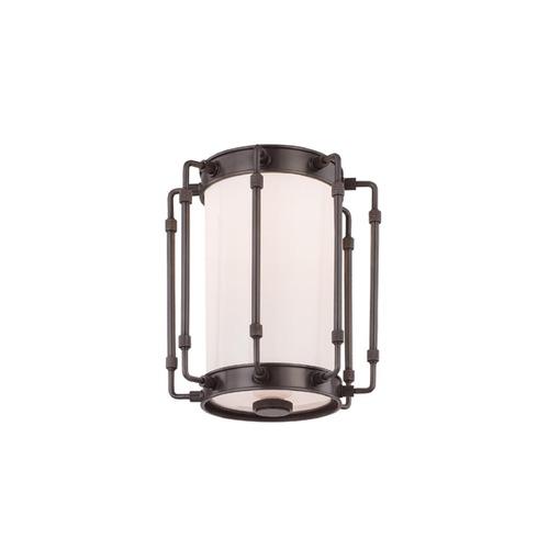 Hudson Valley Emergency Lighting: Hudson Valley Lighting Hyde Park Old Bronze LED Flushmount