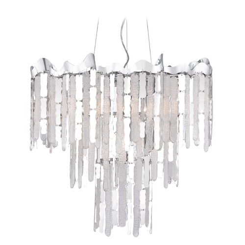 Crystal Pendant Light Polished Chrome Platinum Collection