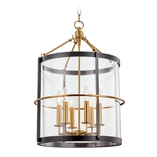 Hudson Valley Lighting Hudson Valley Aged Old Bronze Pendant Light with Clear Glass Shade BKO201-AOB