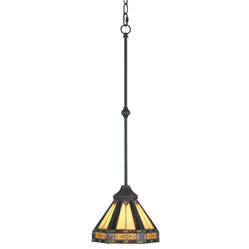 Elk Lighting Mini-Pendant Light with Multi-Color Glass 629-AB