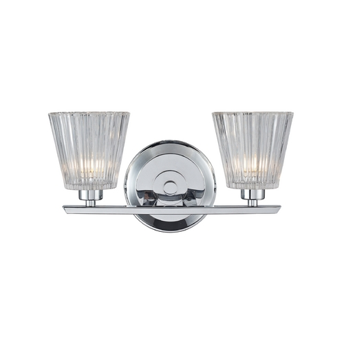 Elk Lighting Bathroom Light with Clear Glass in Polished Chrome Finish 31163/2