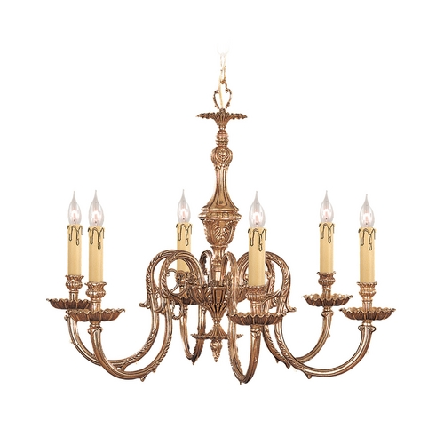Crystorama Lighting Crystal Chandelier in Olde Brass Finish 2606-OB