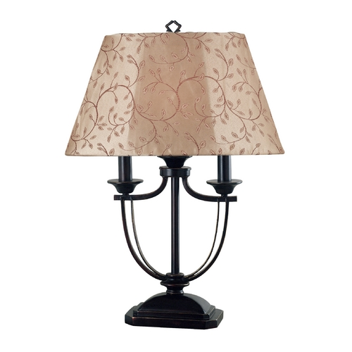 Kenroy Home Lighting Table Lamp with Taupe Shade in Bronze Finish 31365ORB