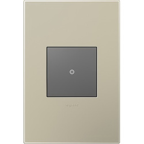 Legrand Adorne Single-Gang Wall Switch Plate Cover in Titanium Finish AWP1G2TM6