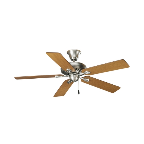 Progress Lighting Progress Ceiling Fan Without Light in Antique Nickel Finish P2521-81