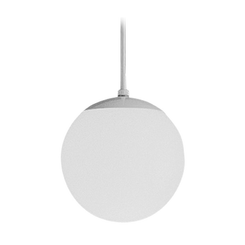 Progress Lighting Progress Globe Mini-Pendant Light with White Glass - 8-Inches Wide P4401-29