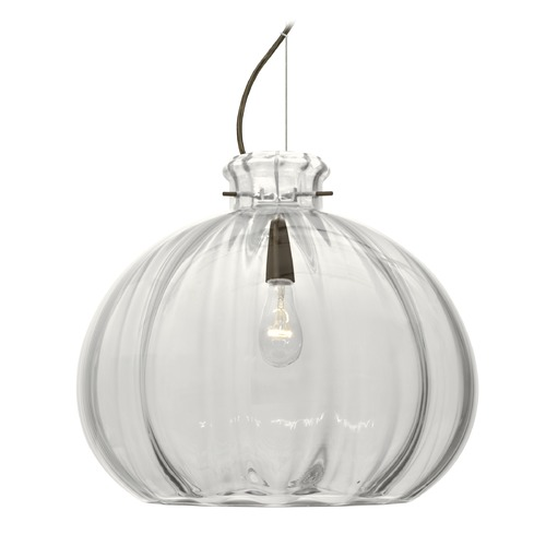 Besa Lighting Besa Lighting Pinta Bronze Pendant Light with Globe Shade 1KX-464588-BR