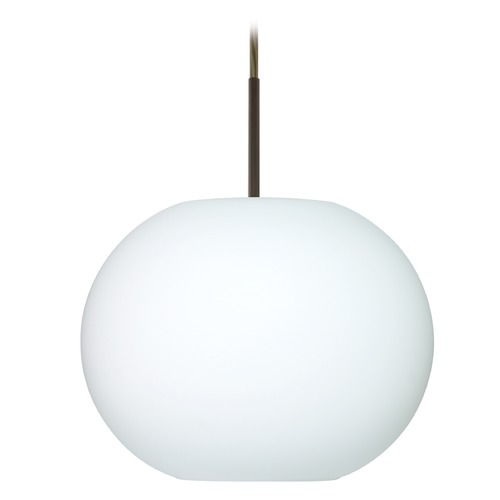 Besa Lighting Besa Lighting Luna Bronze LED Pendant Light with Globe Shade 1JT-477607-LED-BR