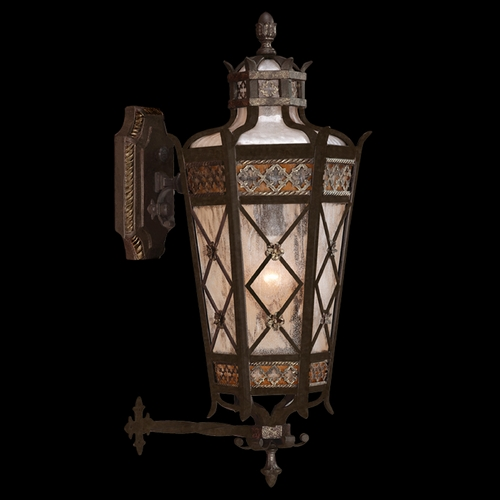Fine Art Lamps Fine Art Lamps Chateau Outdoor Umber Patina with Gold Accents Outdoor Wall Light 404381ST