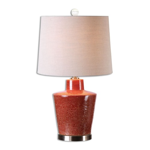 Uttermost Lighting Uttermost Cornell Brick Red Table Lamp 26903
