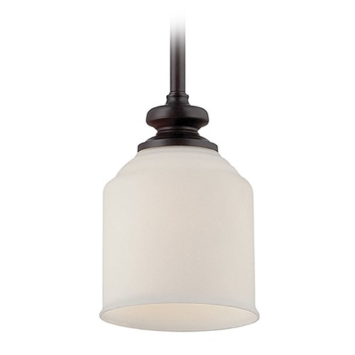 Savoy House Savoy House English Bronze Mini-Pendant Light with Bowl / Dome Shade 7-6834-1-13